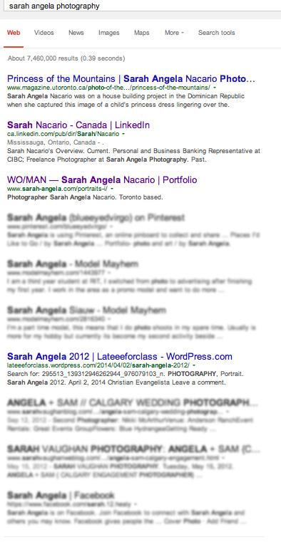 Sarah Angela Photography Google Reults | DIY Marketing Blog by Sarah Angela Nacario
